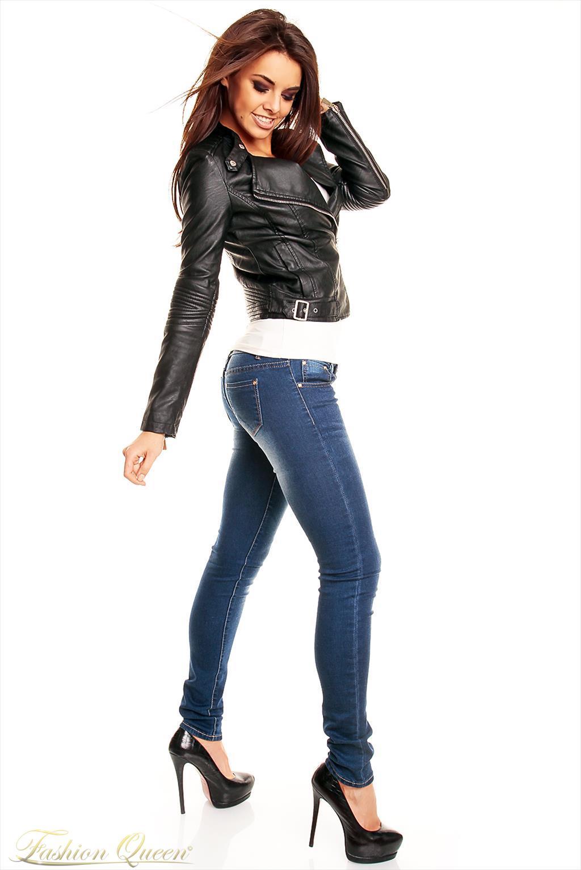 Fashion Queen - Dámske oblečenie a móda - Čierna kožená bunda a653d449af3