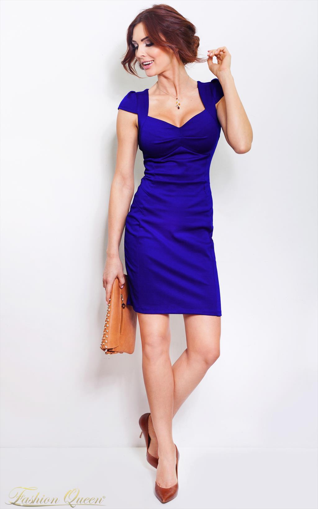 b272cdddd468 Fashion Queen - Dámske oblečenie a móda - Šaty kráľovsky modré