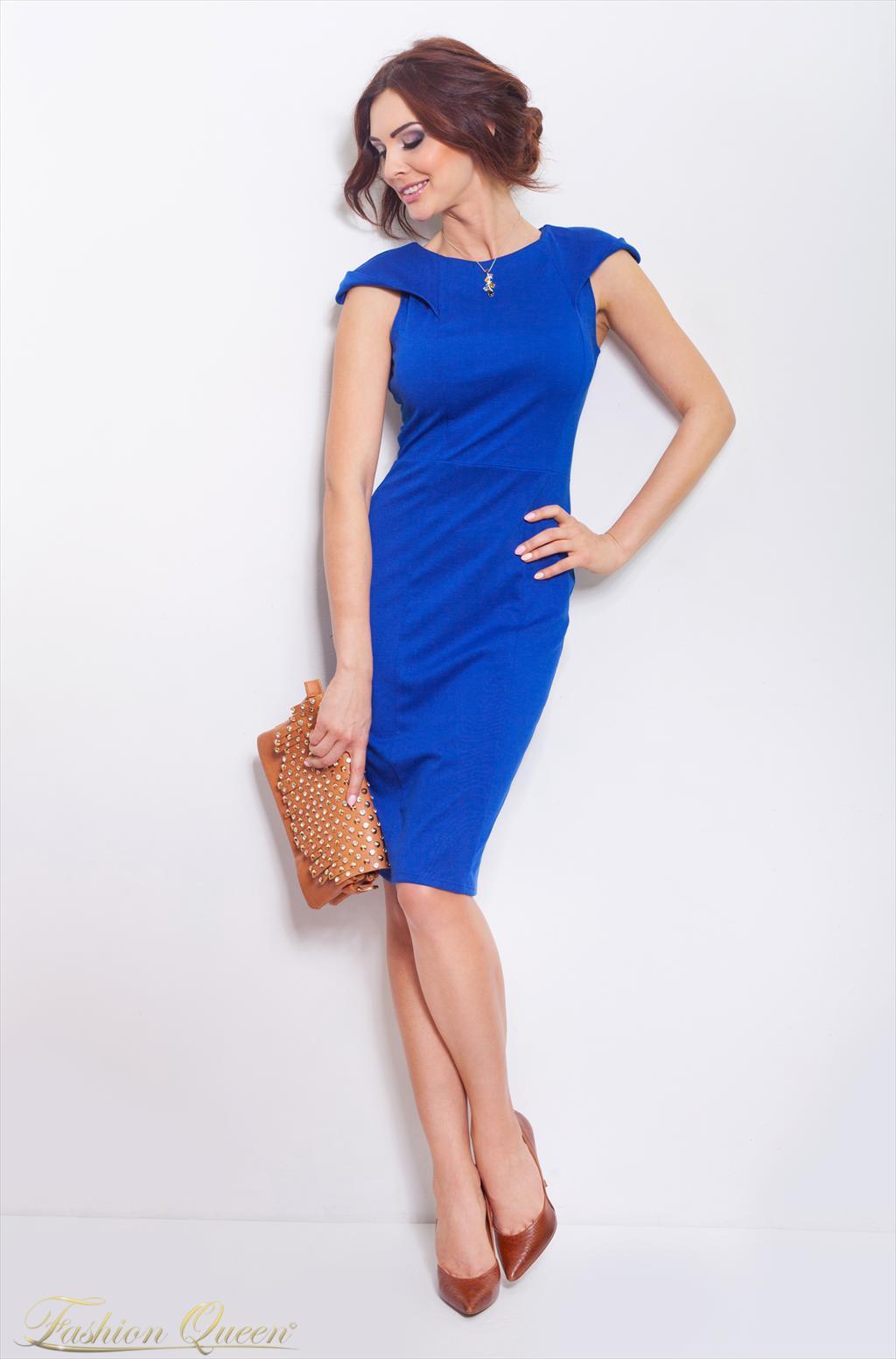 457fecbf25f6 Fashion Queen - Dámske oblečenie a móda - Kráľovsky modré šaty
