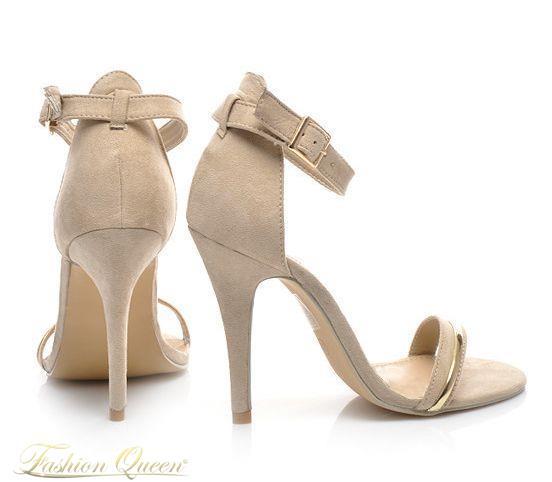 99267704c6d7 Fashion Queen - Dámske oblečenie a móda - Béžové sandále