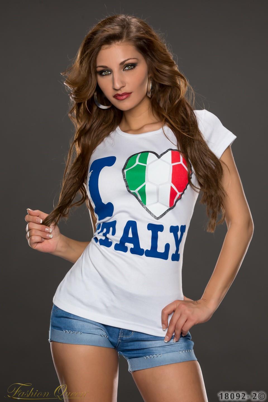 11ec13d31688 Fashion Queen - Dámske oblečenie a móda - Tričko s krátkym rukávom ITALY