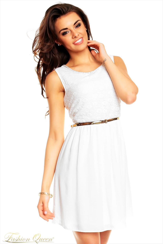 827dc126b896 Fashion Queen - Dámske oblečenie a móda - Biele letné šaty