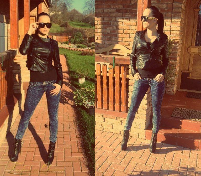 Fashion Queen - Dámske oblečenie a móda - Kožená bunda 4b6ec48e820