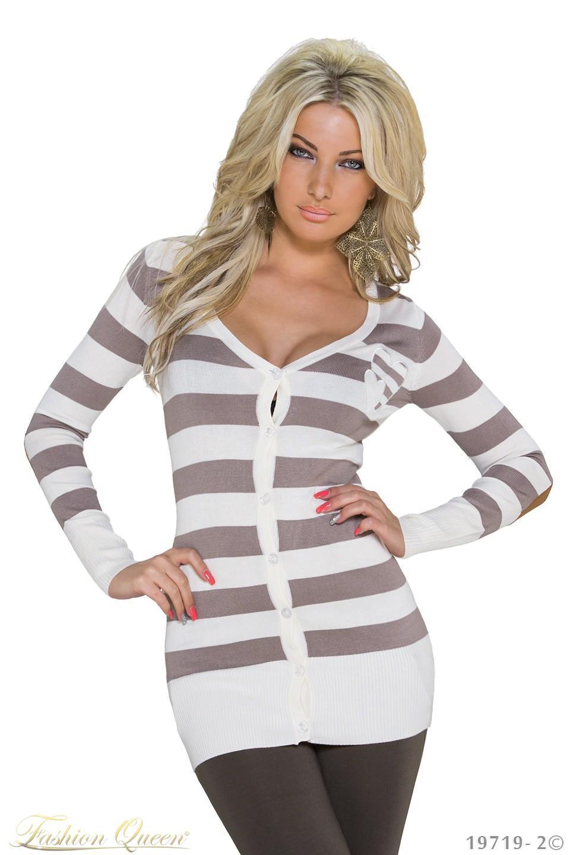 9d18818204af Fashion Queen - Dámske oblečenie a móda - Pásikavý sveter