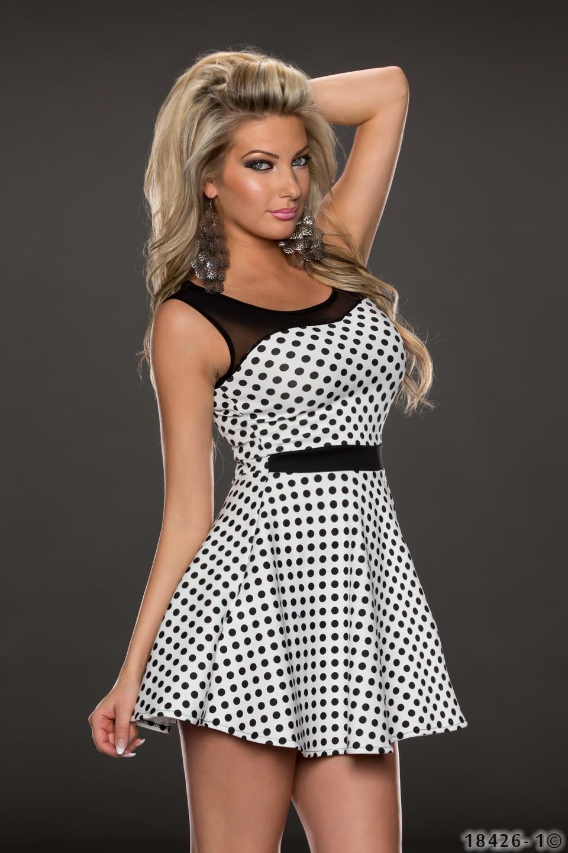 de010f603021 Fashion Queen - Dámske oblečenie a móda - Bodkované šaty