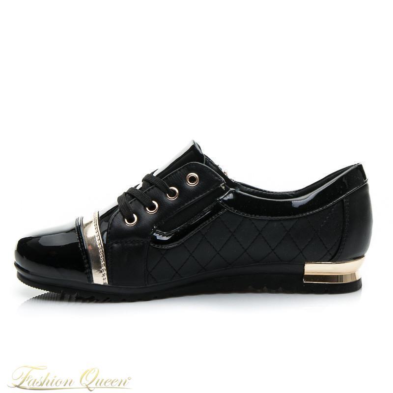 Fashion Queen - Dámske oblečenie a móda - Čierno-zlaté tenisky 3460e9e9a94