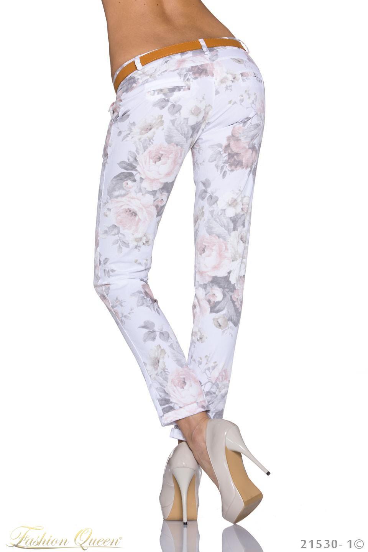 6f66455c3bb9 Fashion Queen - Dámske oblečenie a móda - Dlhé kvetované nohavice