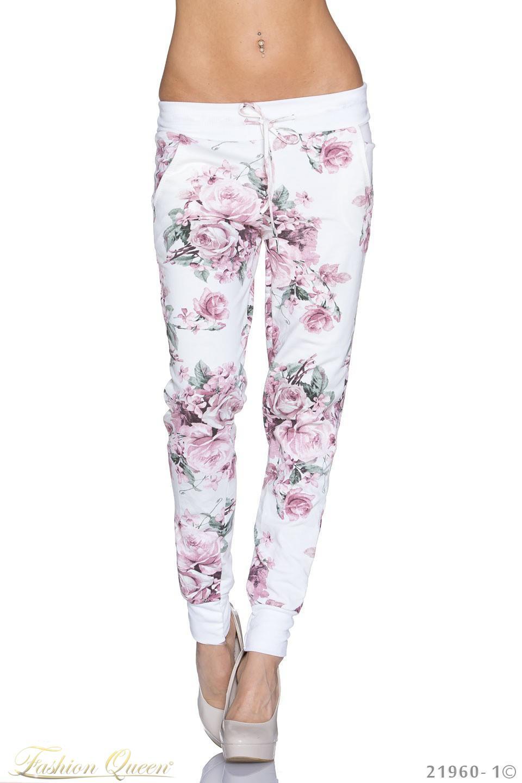 01e2c0a4fa1b Fashion Queen - Dámske oblečenie a móda - Kvetované nohavice