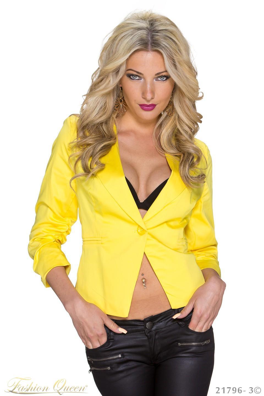 Fashion Queen - Dámske oblečenie a móda - Sako s ¾ rukávom 3896e57d359