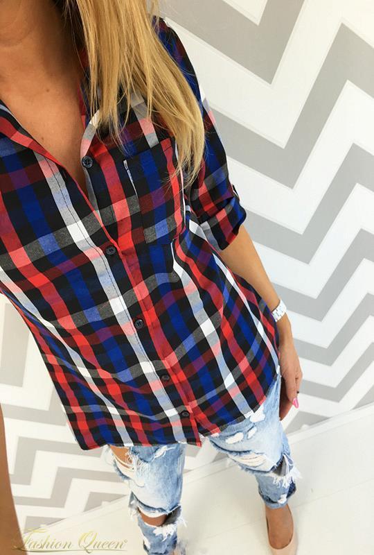 eaef6c8b33 Fashion Queen - Dámske oblečenie a móda - Károvaná košeľa