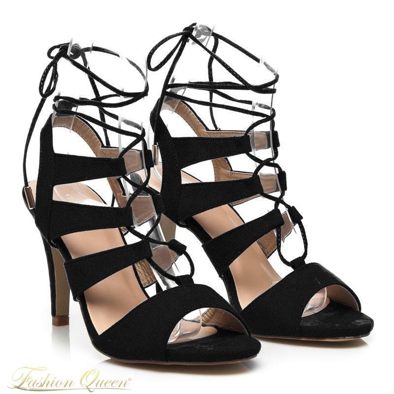 7a16d8a702 Fashion Queen - Dámske oblečenie a móda - Čierne sandále