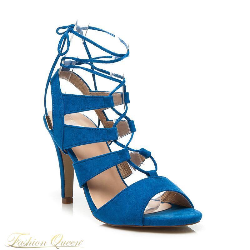 d4f9c1865c7b Fashion Queen - Dámske oblečenie a móda - Modré sandále