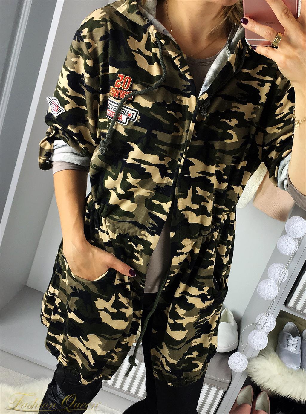 3ba565564c4f Fashion Queen - Dámske oblečenie a móda - Maskáčový kardigán