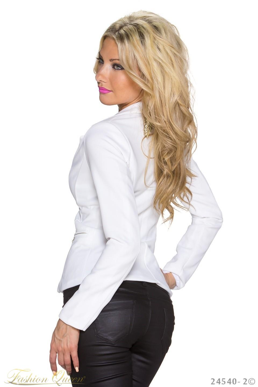 83ed38bbcd09 Fashion Queen - Dámske oblečenie a móda - Biele sako