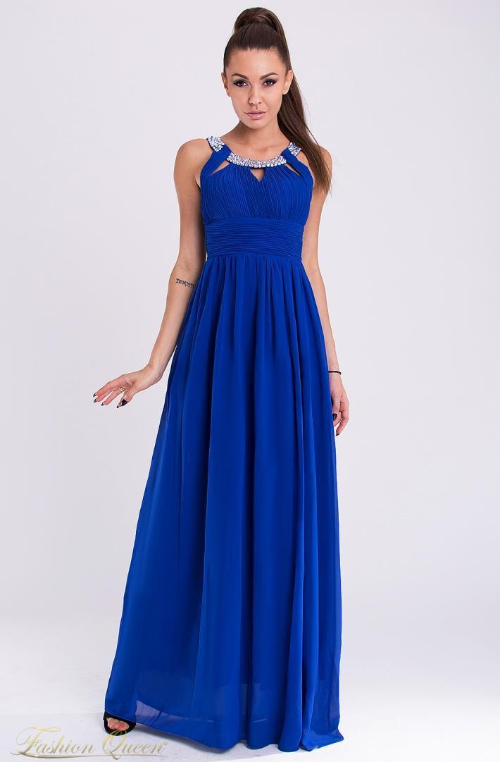 Fashion Queen - Dámske oblečenie a móda - Modré plesové šaty c70ada1cd92