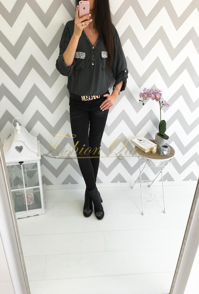 347567906e5f Fashion Queen - Dámske oblečenie a móda - Košeľa s trblietkami
