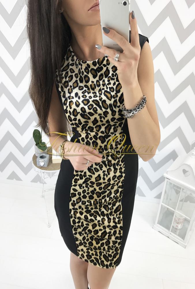 Fashion Queen - Dámske oblečenie a móda - Tigrované šaty da26669face