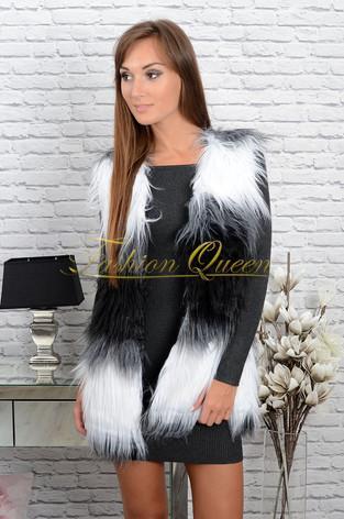 Fashion Queen - Dámske oblečenie a móda - Chlpatá vesta 2c680256717