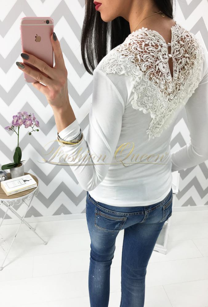 Fashion Queen - Dámske oblečenie a móda - Tričko s čipkou na chrbte 63d78caa217