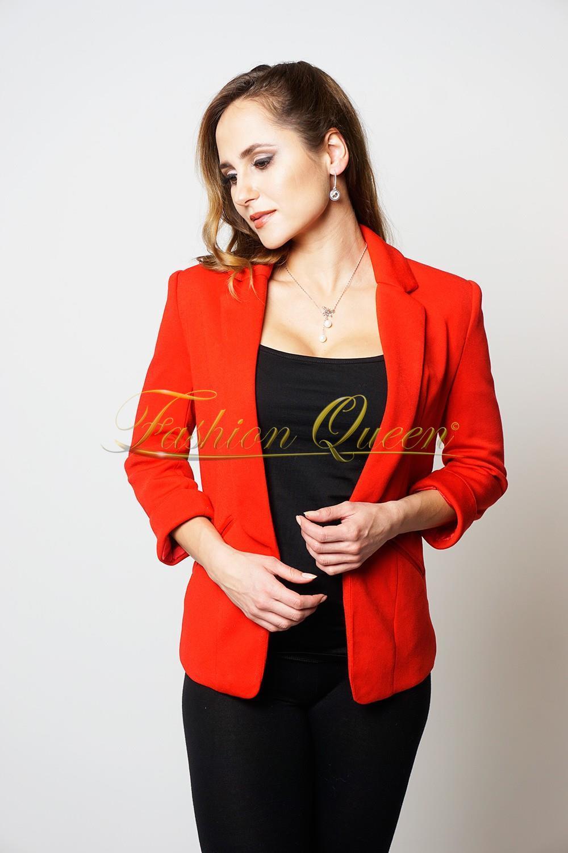 4f6ca5c8a2cd Fashion Queen - Dámske oblečenie a móda - Červené sako