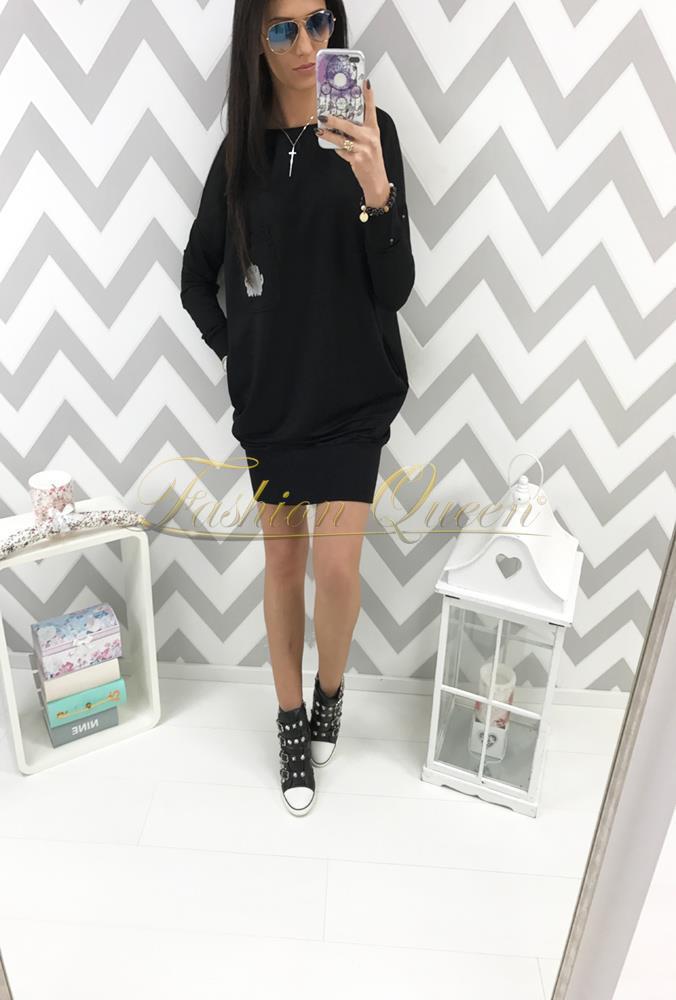 6640ebeceb6c Fashion Queen - Dámske oblečenie a móda - Oversize šaty s vreckami