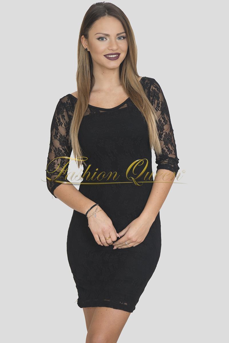 578f69c36998 Fashion Queen - Dámske oblečenie a móda - Čierne čipkované šaty