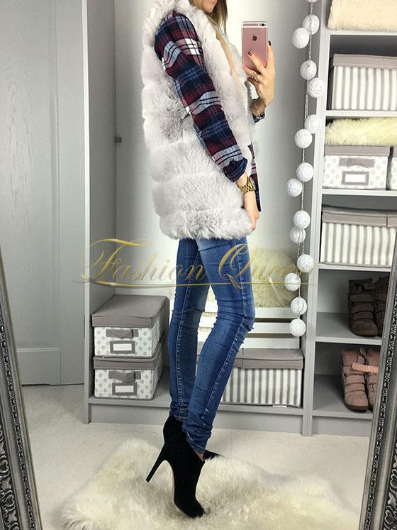 Fashion Queen - Dámske oblečenie a móda - Kožušinová vesta d172d4590a0