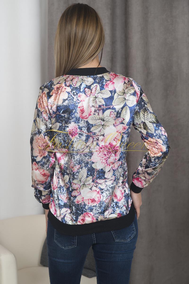 b9fac1453 Fashion Queen - Dámske oblečenie a móda - Kvetovaná mikina
