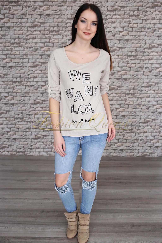 109e1e66a81a Fashion Queen - Dámske oblečenie a móda - Tričko s nápisom
