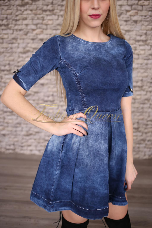 313453c3b0b4 Fashion Queen - Dámske oblečenie a móda - Áčkové rifľové šaty