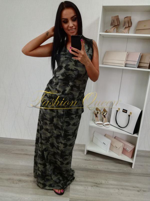 081a97c04b67 Fashion Queen - Dámske oblečenie a móda - Maskáčové šaty dlhé