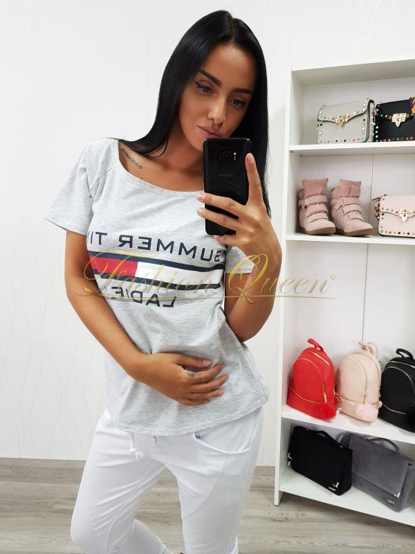 b2a9e793c5ae Fashion Queen - Dámske oblečenie a móda - Sivé tričko