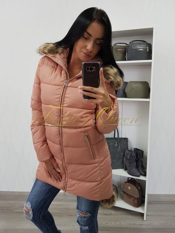 Fashion Queen - Dámske oblečenie a móda - Zimná vetrovka s kožušinou b327582062d