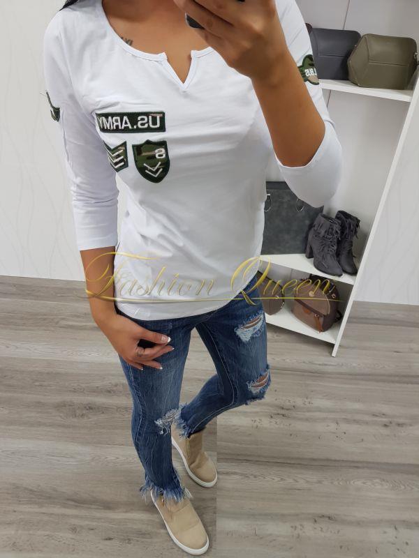 6eed91277 Fashion Queen - Dámske oblečenie a móda - Tričko s army nášivkami