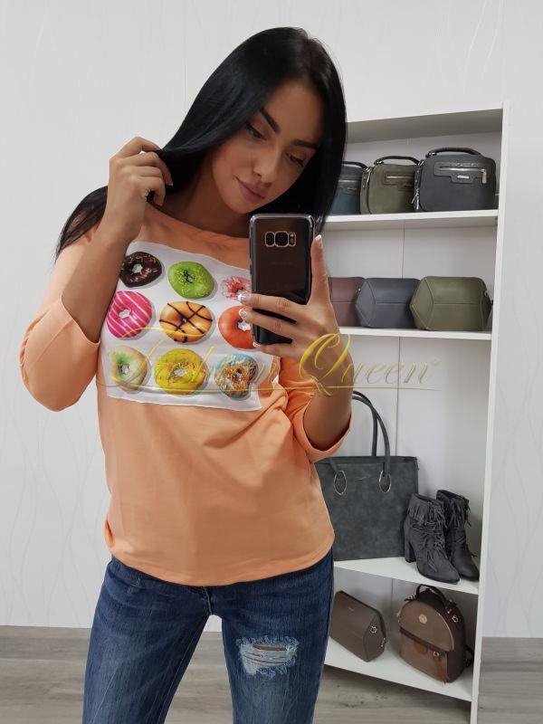 "51aad6dced23 Fashion Queen - Dámske oblečenie a móda - Tričko ""Donuts"""
