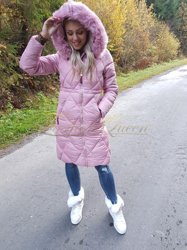 Fashion Queen - Dámske oblečenie a móda - Dlhá zimná vetrovka f31fa65b1d8