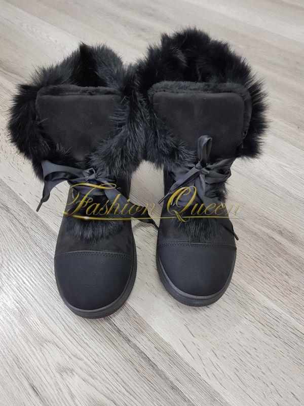 a5b6b696cc75d Fashion Queen - Dámske oblečenie a móda - Čierne zateplené tenisky