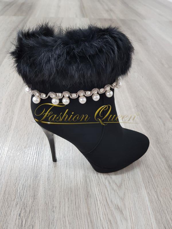 adb38c60c65a Fashion Queen - Dámske oblečenie a móda - Členkové čižmy s perličkami