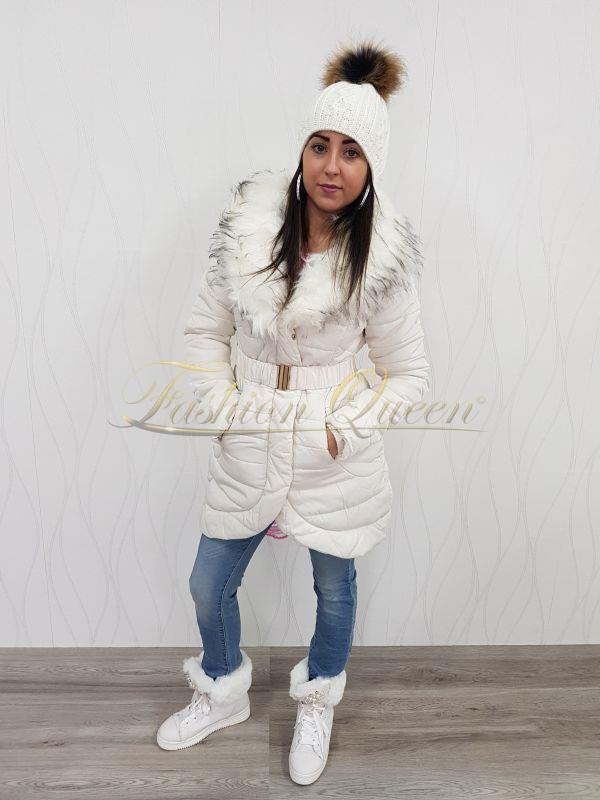 Fashion Queen - Dámske oblečenie a móda - Biela vetrovka ba1efb17d6a