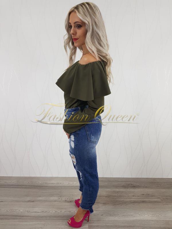 Fashion Queen - Dámske oblečenie a móda - Modré rifle potrhané b4b1f6aeac1