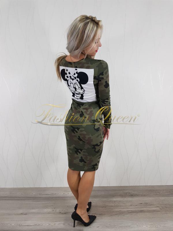 """152638ee62ad Fashion Queen - Dámske oblečenie a móda - Maskáčové šaty """"MINNIE"""""""