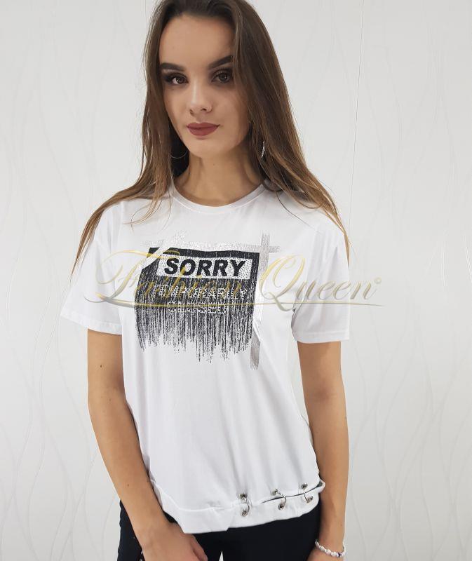 1456c973f538 Fashion Queen - Dámske oblečenie a móda - Biele tričko s potlačou