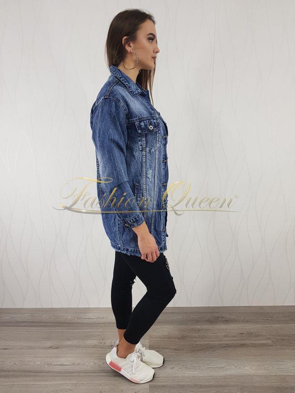 99567fa8acb9 Fashion Queen - Dámske oblečenie a móda - Dlhá rifľová bunda