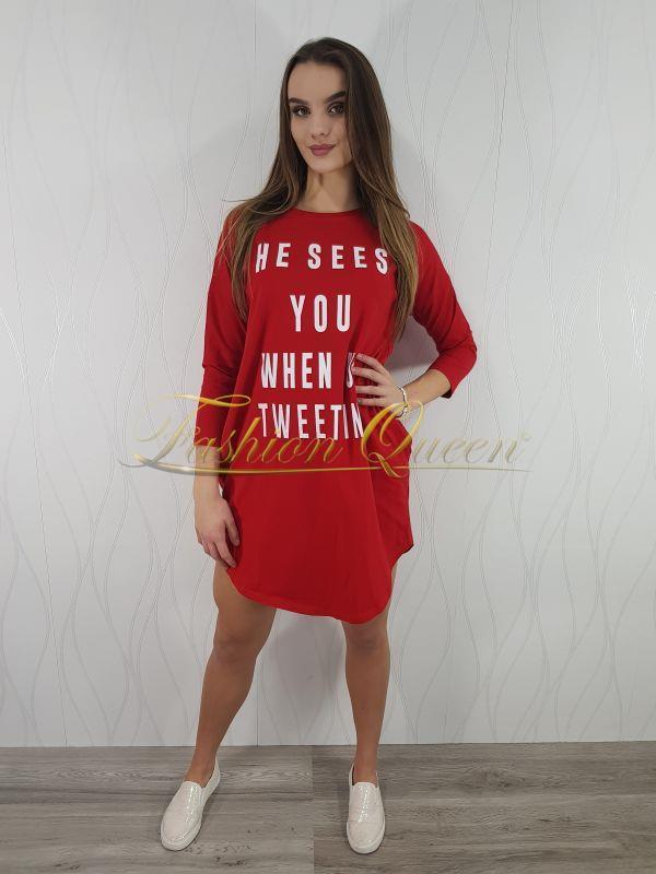 9b0b3bbfe Fashion Queen - Dámske oblečenie a móda - Oversize šaty s potlačou