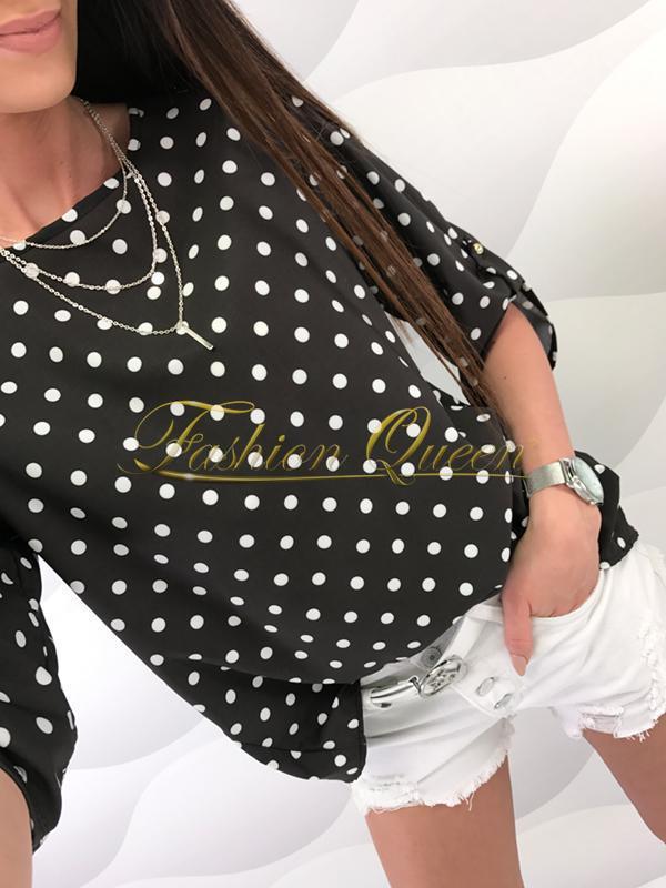 6a5f0191b4f8 Fashion Queen - Dámske oblečenie a móda - Bodkovaná blúzka