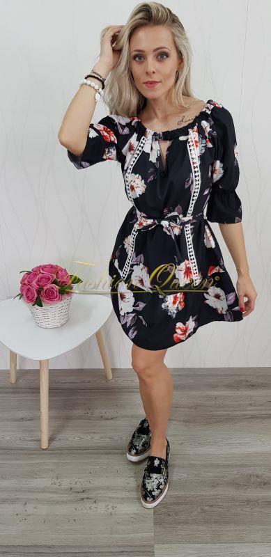 Fashion Queen - Dámske oblečenie a móda - Kvetované šaty 66304eb20b4