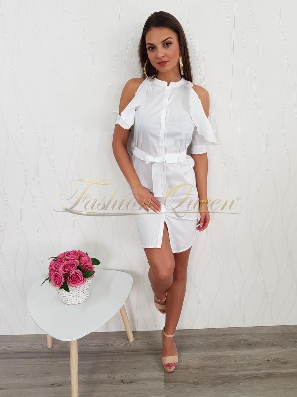 Fashion Queen - Dámske oblečenie a móda - Biele šaty f1bea72e975
