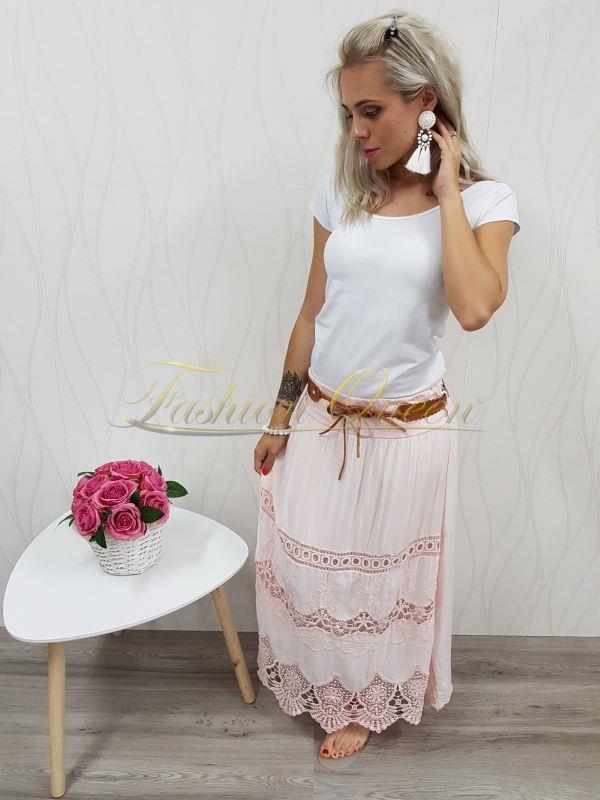 4439a04668da Fashion Queen - Dámske oblečenie a móda - Dlhá sukňa s čipkou