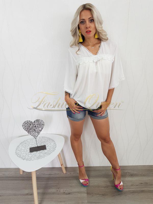 d6ed86836c20 Fashion Queen - Dámske oblečenie a móda - Biela tunika