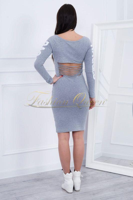 ee9bc7149fd9 Fashion Queen - Dámske oblečenie a móda - Sivé šaty